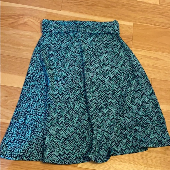 LuLaRoe Dresses & Skirts - Navy and electric blue skirt